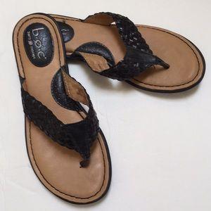 Black Thong Sandals